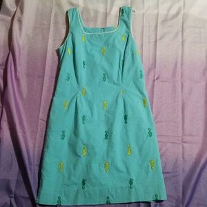 Lilly Pulitzer Seahorse Dress Size 8